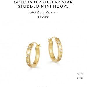 NIB NWT Missoma interstellar gold hoop earrings